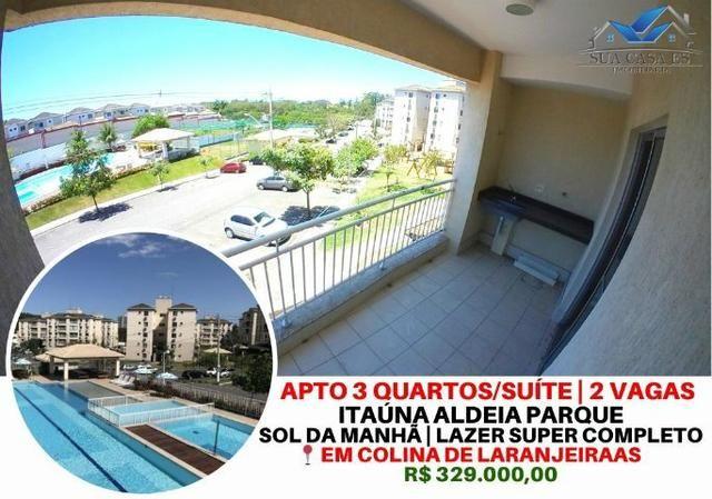 Apto 3 quartos com suíte no Condomínio Itaúna Aldeia Parque em Colina de Laranjeiras