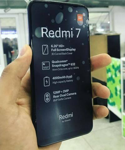 Celular Xiaomi Redmi 7 64GB 3RAM Versão Global Preto