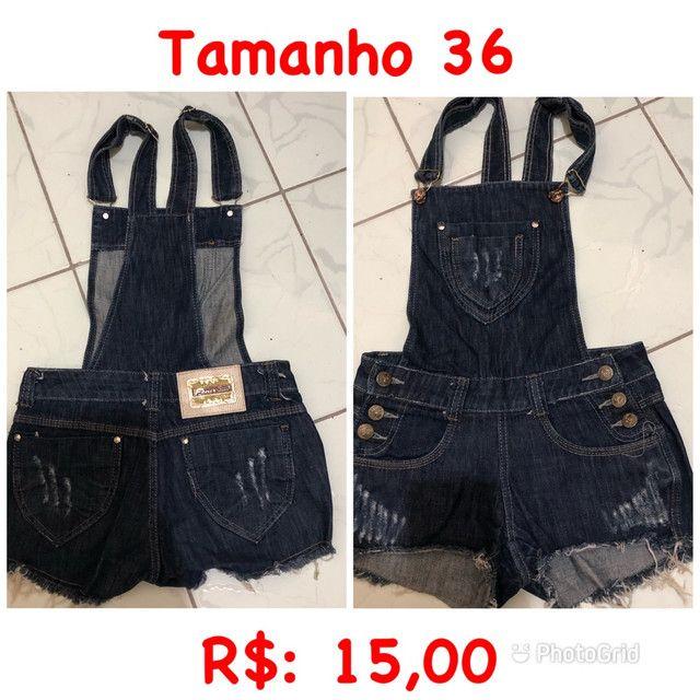 Macaquinho jeans 36 ou P