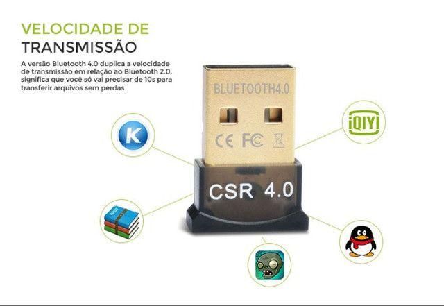 Mini Adaptador Receptor de Áudio Bluetooth USB 4.0 CSR - Foto 5
