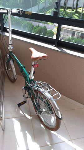 Bicicleta dobrável em alumínio - Foto 2