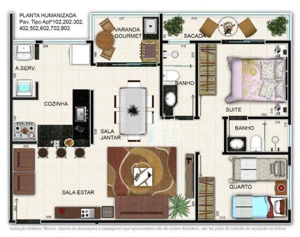 Apartamento à venda, 60 m² por R$ 267.000,00 - Santa Mônica - Uberlândia/MG - Foto 4