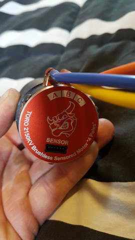 Motor brushless 2150kv sensored novo - Foto 2
