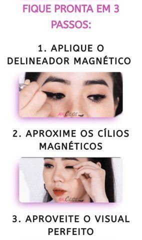 Kit Cílios magnéticos (3 pares de cílios magnéticos + Delineador Magnético +pinça)  - Foto 6