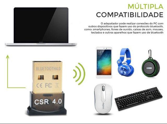 Mini Adaptador Receptor de Áudio Bluetooth USB 4.0 CSR - Foto 3