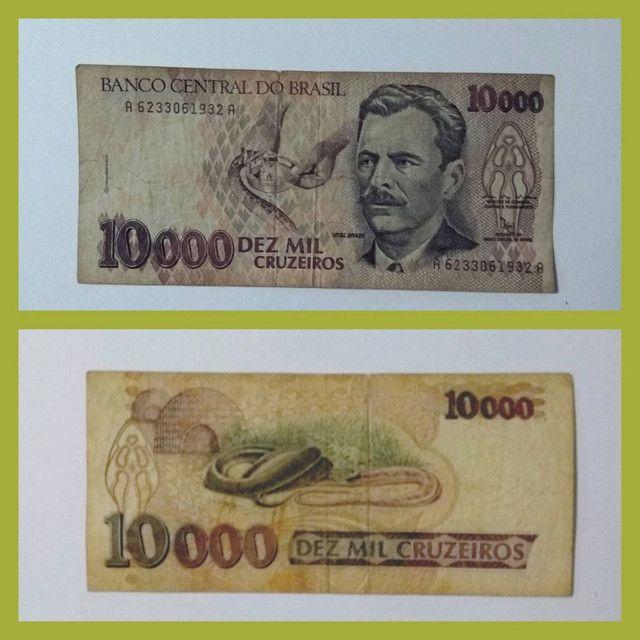 Nota Cédula Dez Mil Cruzeiros