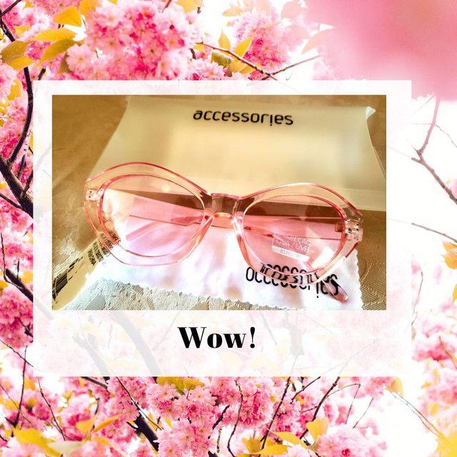 Óculos de sol feminino rosa Acessories, gatinho revisitado. Novo.