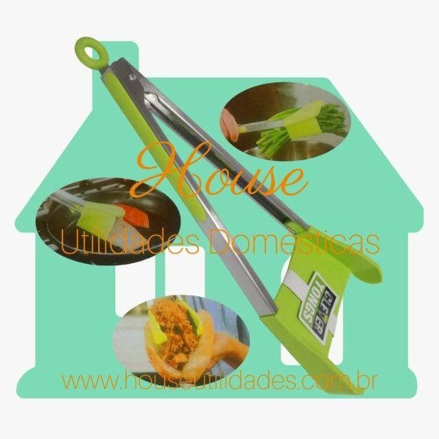 Pinça e Espátula Culinária 2 em 1 Clever Cutter