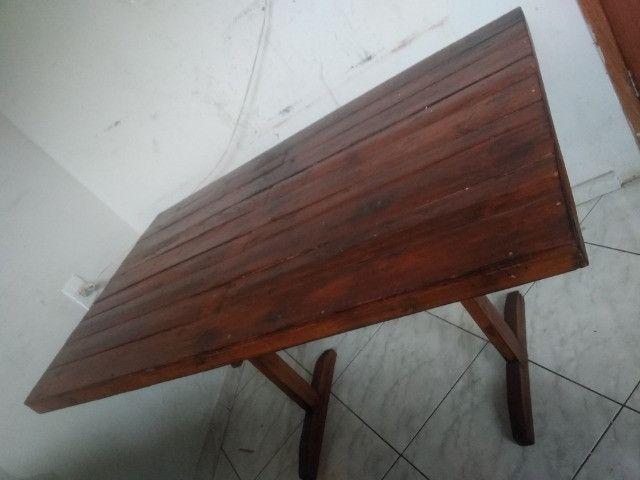 Mesa de madeira rústico - Foto 2