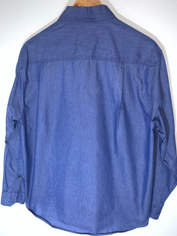 Camisa social masculina Jeans  - Foto 2