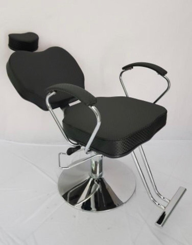 Cadeira Hidráulica Cromada (base redonda) fixa e reclinável
