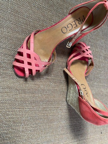 sandália feminina n37 vermelha