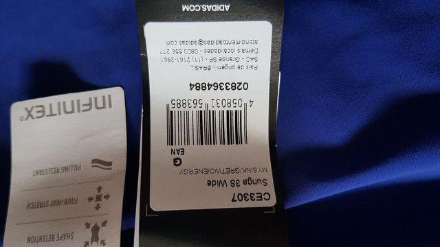 Sunga Adidas 3S Wide tam. G. Nova e com etiquetas  - Foto 3