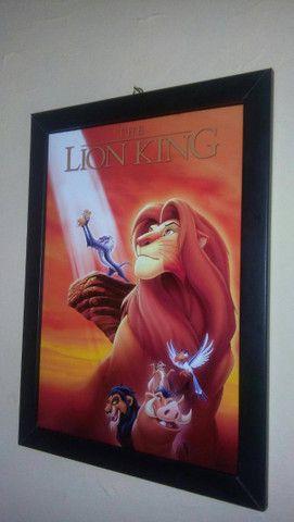 Quadro O Rei Leão + Caixa Vhs - Foto 5