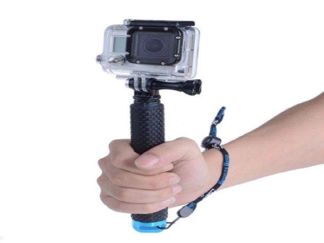 Selfie varas auto handheld telescópica pólo monopé vara - Foto 4