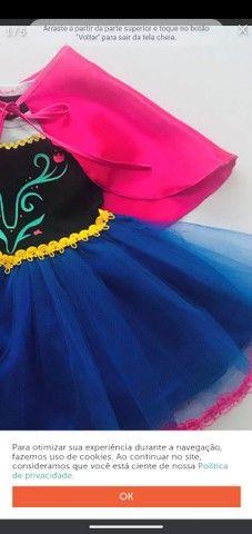 vestido fantasia anna do frozen<br> - Foto 2