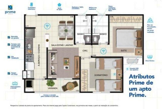 Apartamento 2 quartos e suíte com Varanda Goumet /JMR - Foto 6