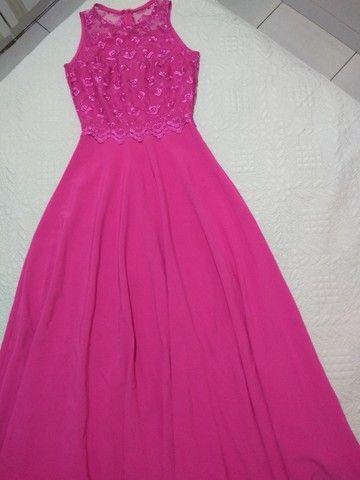 Vestido rosa de festa