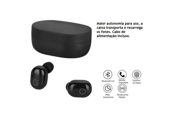 Pronta Entrega Original Fone De Ouvido Sem Fio Bluetooth Tws Airdots Earbuds SLY 18 - Foto 2