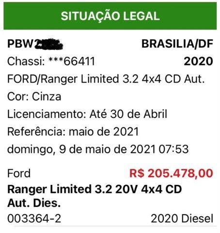 Ford Ranger Limited 2020 - Foto 14