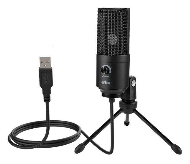 Microfone Condensador Fifine K669 USB - Youtube / Podcast / Estúdio / Gravação Vocal / Etc