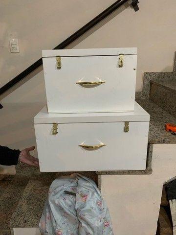 Conjunto de baú tipo maleta MDF organizador - Foto 3