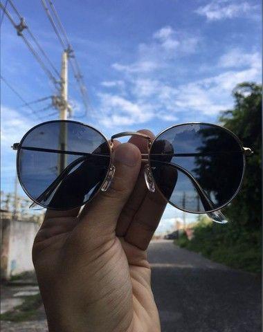 Óculos de sol Round Redondo Vidro