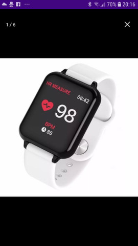 Smart Watch B57 HOLLVALDA ORIGINAL A PROVA D'ÁGUA