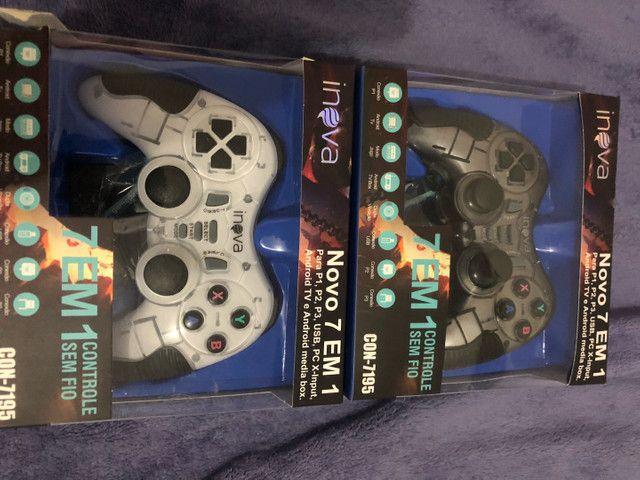 Controle inova para PC e PS4 valor 120 os dois  - Foto 3