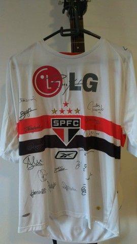 Vendo Camisa do São Paulo Edição Comemorativa (autografada) Sócio Torcedor
