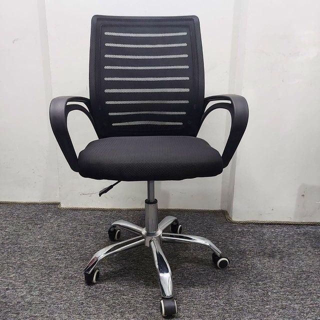 Cadeira Nova Garantia Rodinha Giratória Diretor Tela - Foto 3