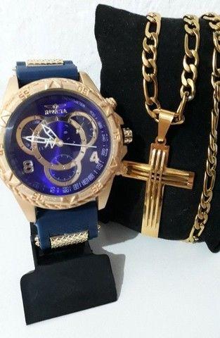 Cordão + relógio Invicta