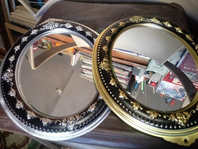 Espelho redondo retrô