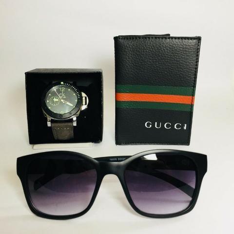 Kit Relógio + Carteira Gucci - Bijouterias, relógios e acessórios ... 3704549a12