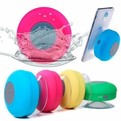 Caixa Som Banheiro Prova D Água Bluetooth Compatível Android E IOS