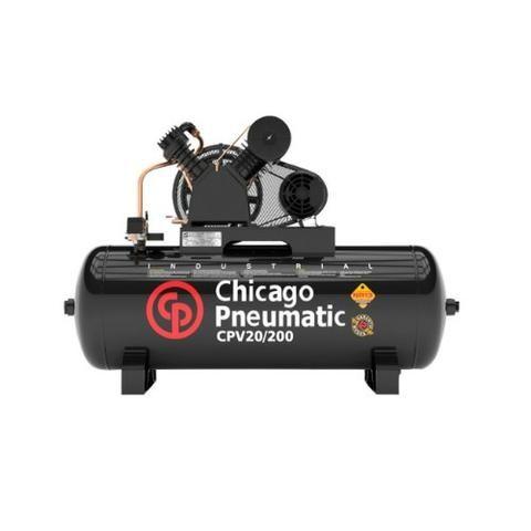 Compressor De Ar 10 Pés 100 Litros CPV10/100 Chicago (NOVO)