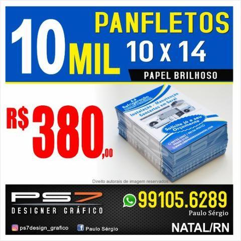 10 Mil panfletos 10 X 14 papel brilhoso impressão só frente