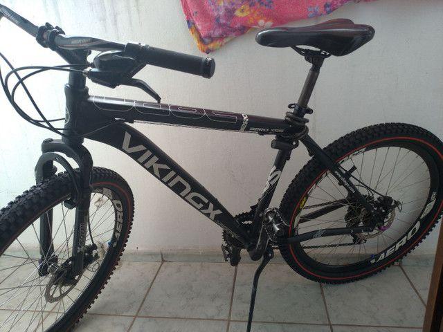 Bike vikings aero x55 aro 26 toda Shimano gts dois pneus zero - Foto 4