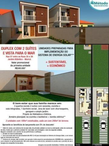 CASA COM 3 DORMITÓRIOS À VENDA, 100 M² POR R$ 349.000 - JARDIM ATLÂNTICO CENTRAL (ITAIPUAÇ - Foto 2