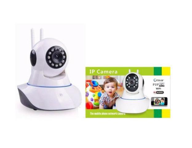 Câmera Ip Wifi Segurança Hd Wireless P2p Visão Noturna 2 Antenas Onvif Captação Áudio - Foto 2