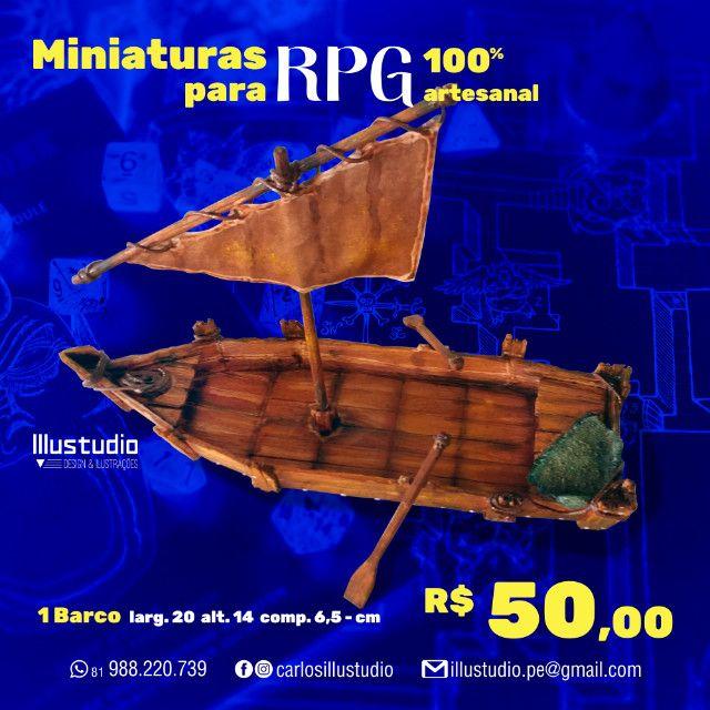 Miniaturas RPG 100% Artesanal - Madeira - Foto 3