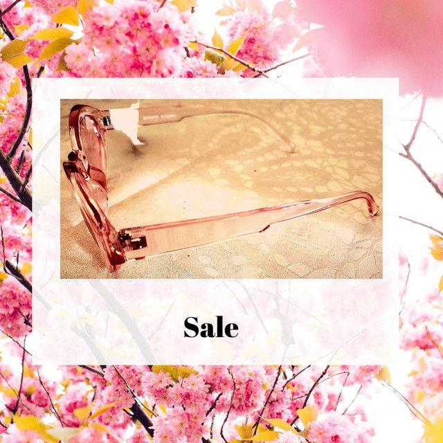 Óculos de sol feminino rosa Acessories, gatinho revisitado. Novo. - Foto 4