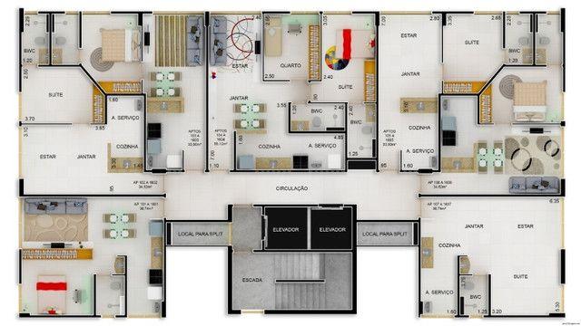 Edifício Luar da Praça, apartamentos com 1 a 2 quartos, 34 a 55 m² Casa Caiada - Olinda/PE - Foto 5