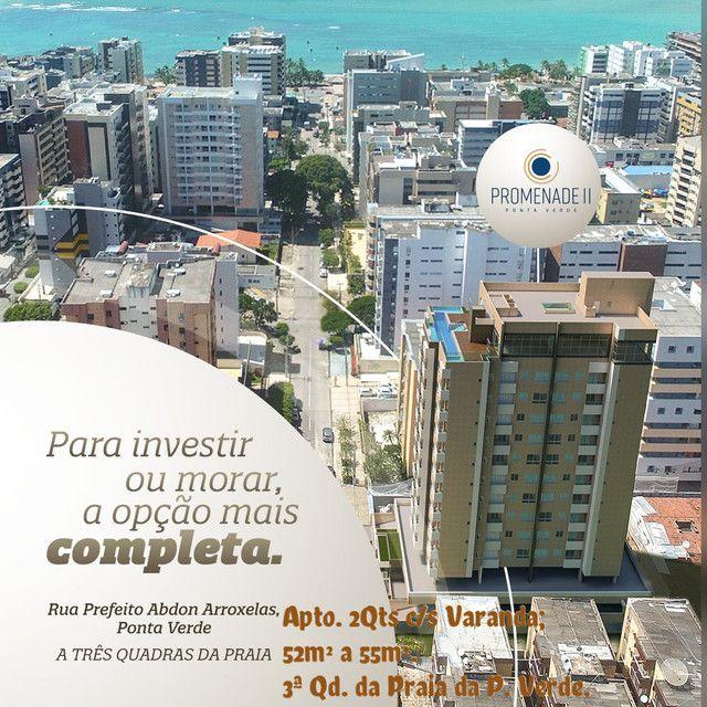 Em Construção na 3ªQd. da Praia da P. Verde; Apto. 2Qts c/ 52m e 55m.