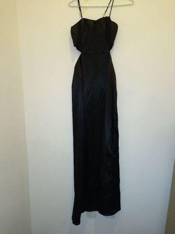 Vestido longo preto de festa
