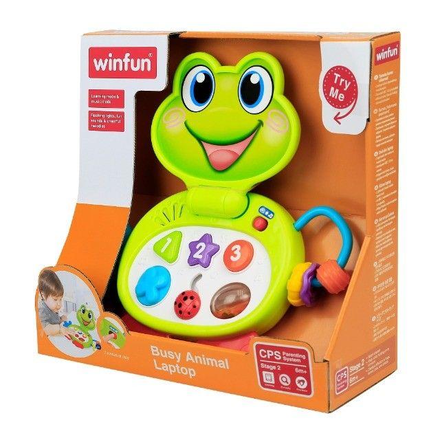 Laptop Brinquedo Baby Sapinho Infantil Com Sons E Luzes - Foto 3