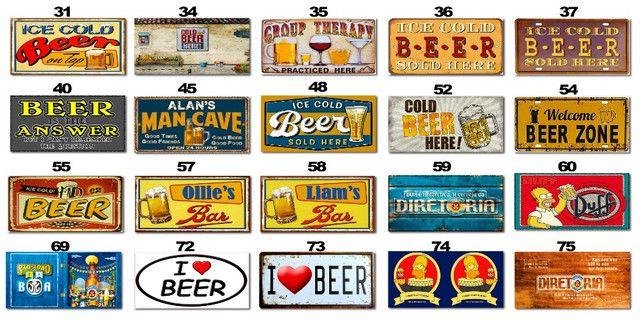 Placas Decorativas com Frases Divertidas de Bebida Kit com 7 placas - Foto 2