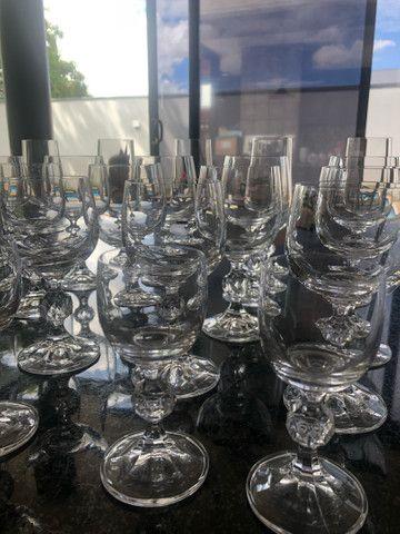 Jogo de 29 taças de cristal Bohemia Claudia - Foto 3