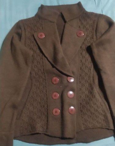 Casaco de lã marrom estilo terninho
