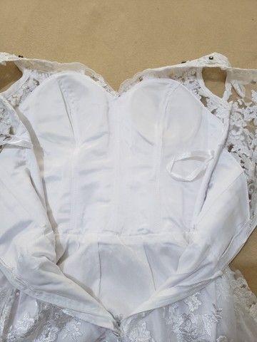 Vestido de noiva branco com renda - Foto 3